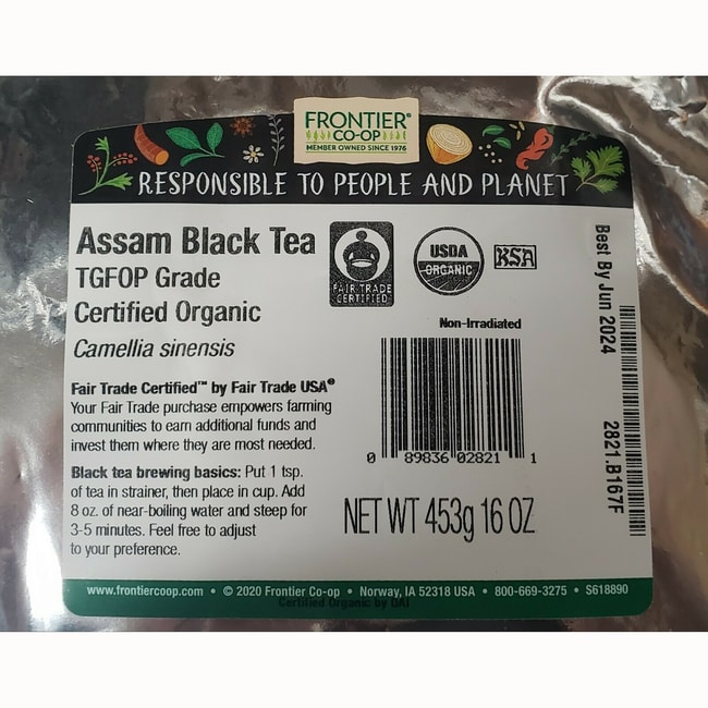 Frontier Natural Products Co-OpOrganic Assam Tea Tippy Golden FOP