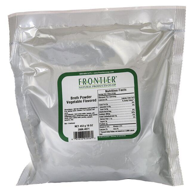 Frontier Co-Op Broth Powder - Vegetable Flavored