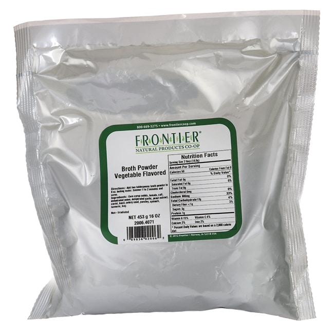 Frontier Natural Products Co-OpBroth Powder - Vegetable Flavored