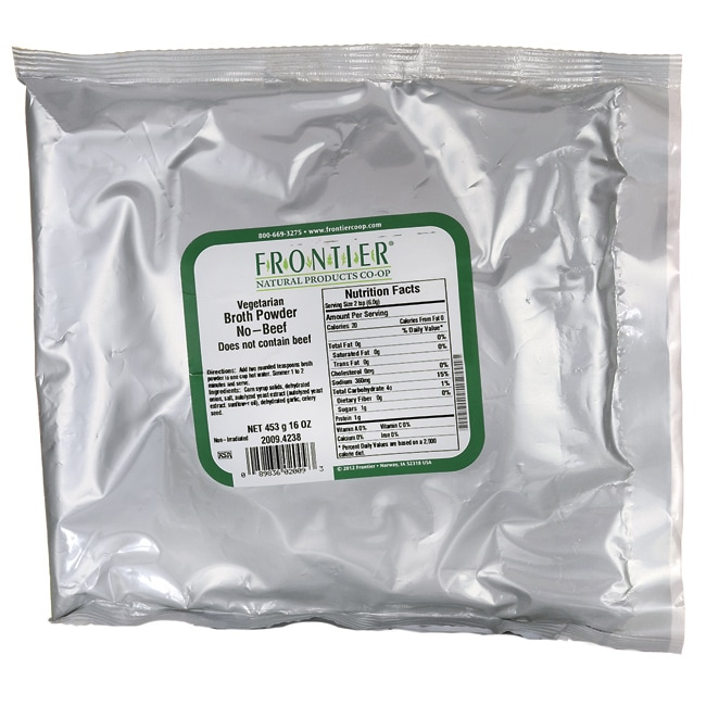 Frontier Natural Products Co-OpVegetarian Broth Powder - No-Beef