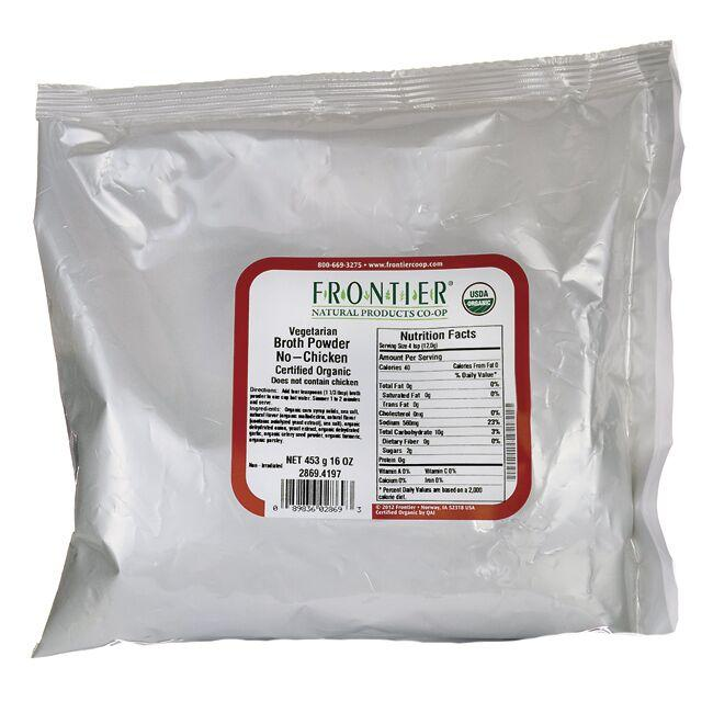 Frontier Natural Products Co-Op Organic Vegetarian Broth Powder - No-Chicken