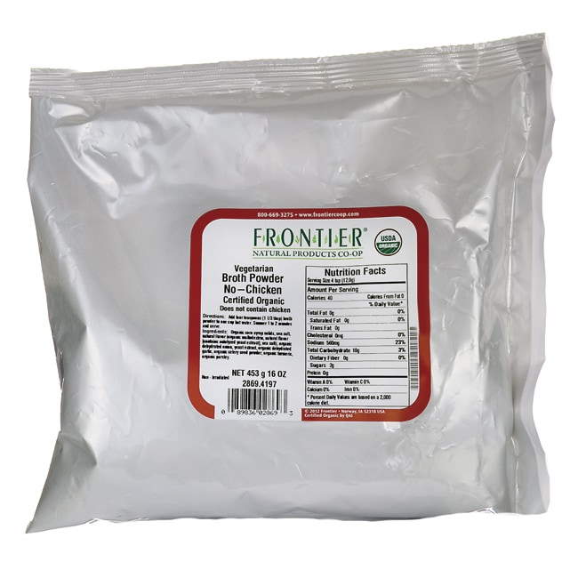 Frontier Natural Products Co-OpOrganic Vegetarian Broth Powder - No-Chicken