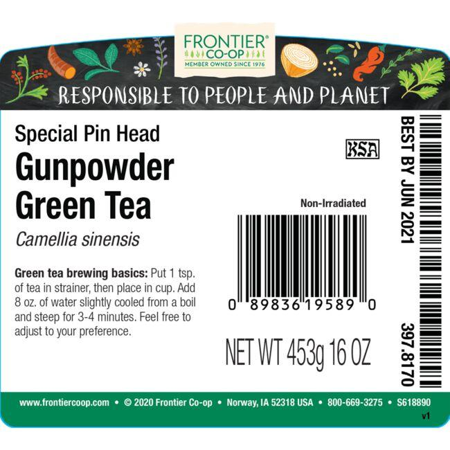 Frontier Co-Op Gunpowder Tea Special Pin Head