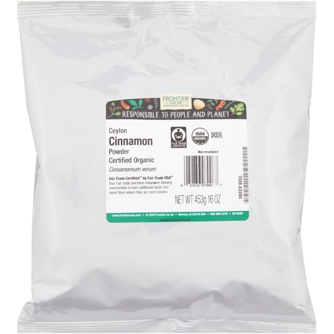 Frontier Natural Products Co-OpOrganic Powdered Ceylon Cinnamon