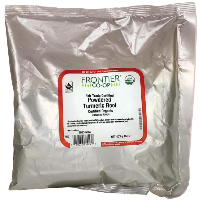 Frontier Co-Op Certified Organic Powdered Turmeric Root