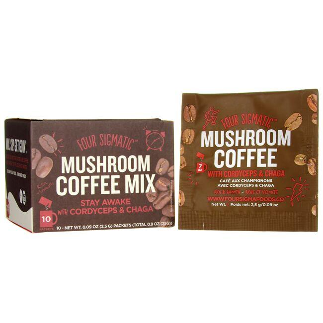 Four SigmaticMushroom Coffee Mix - Stay Awake