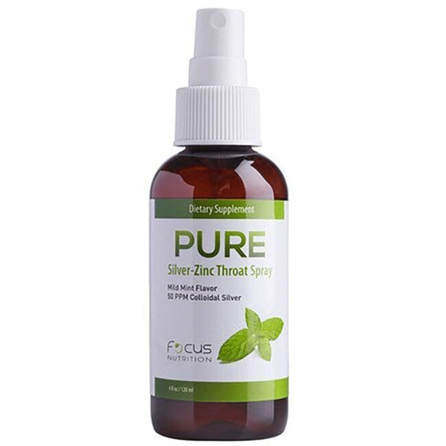 PURESilver-Zinc Throat Spray - Mild Mint