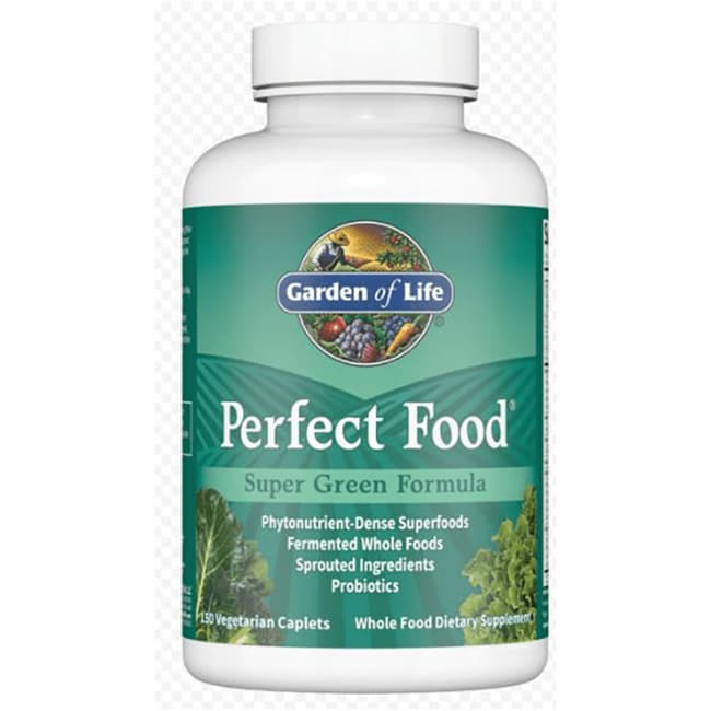 garden of life perfect food super green formula 150 cplts swanson health products