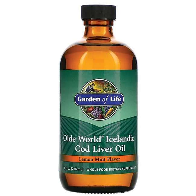 Garden of Life Olde World Icelandic Cod Liver Oil - Lemon Mint