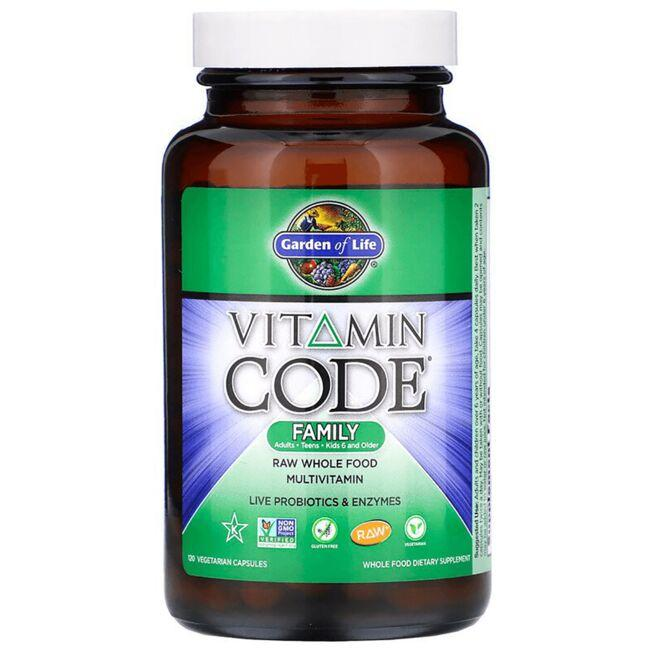 Garden of Life Vitamin Code Family 120 Veg Caps - Swanson Health ...