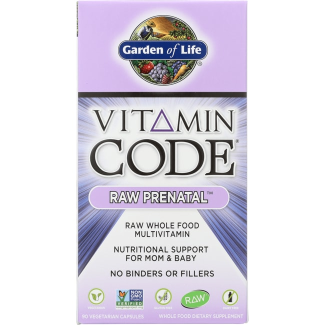 Garden of life vitamin code raw prenatal 90 veg caps swanson health products for Garden of life vitamin code prenatal