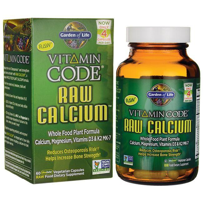 Garden of Life Vitamin Code Raw Calcium 60 Veg Caps - Swanson Health ...