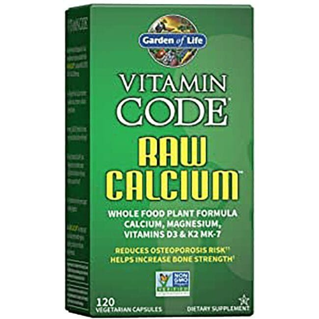 Garden of Life Vitamin Code Raw Calcium 120 Veg Caps - Swanson ...