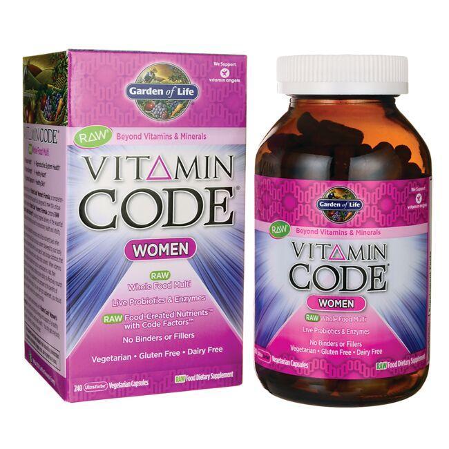Kết quả hình ảnh cho Garden of Life® Vitamin Code For Women