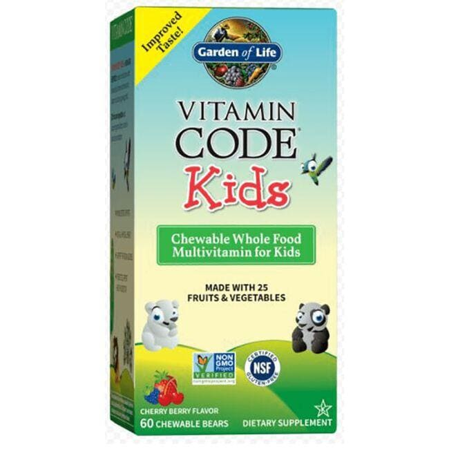 Garden of Life Vitamin Code Kids 60 Chwbls - Swanson Health Products