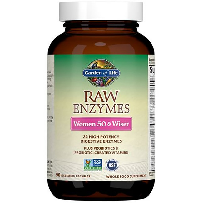 Garden Of Life Raw Enzymes Women 50 Wiser 90 Veg Caps Swanson Health Products