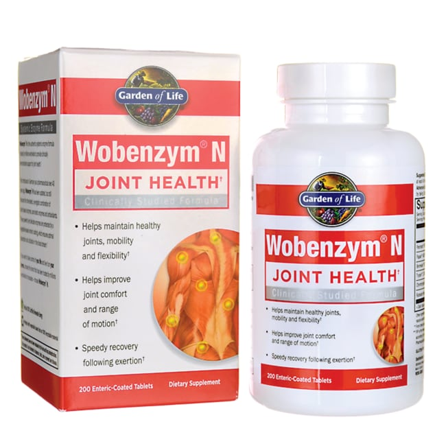 Garden Of Life Wobenzym N Healthy Inflammation And Joint