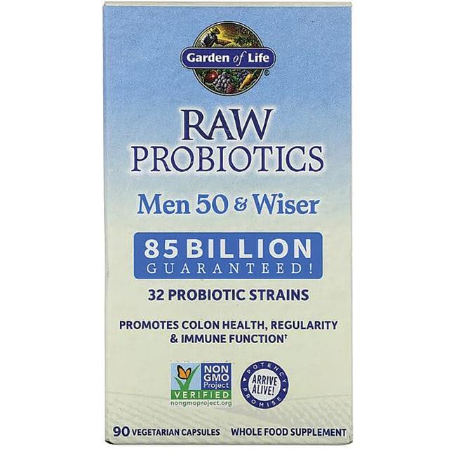Garden of life raw probiotics men 50 wiser 90 veg caps - Garden of life raw probiotics men ...