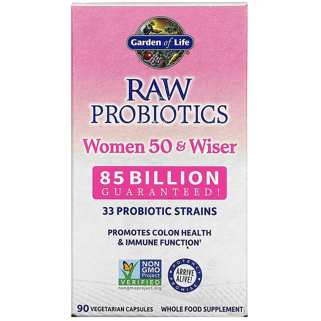 Garden of Life RAW Probiotics Women 50 Wiser 85 Billion CFU 90