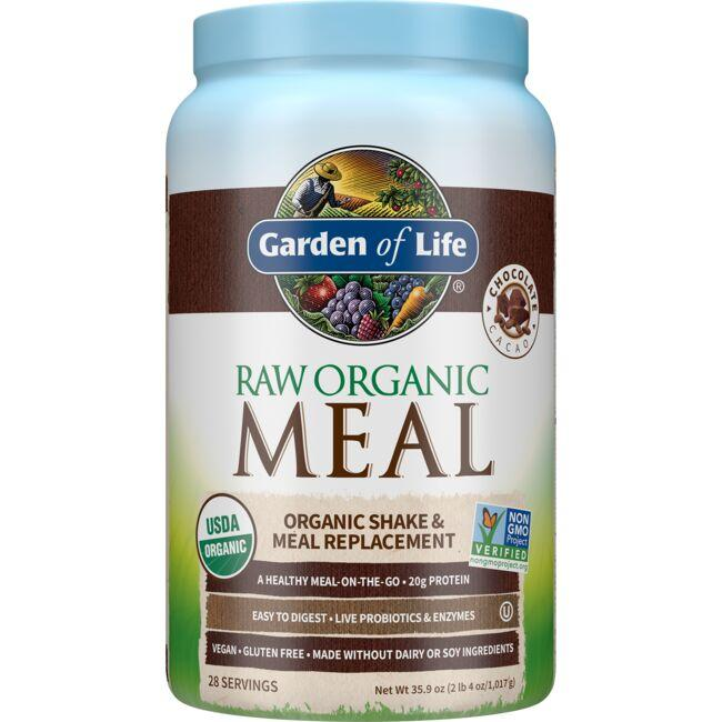 Garden Of Life Raw Organic Meal Shake Meal Replacement Chocolate Cacao 35 9 Oz 1 017 Grams