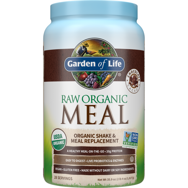 Garden Of Life Raw Meal Organic Shake Meal Replacement Chocolate 34 8 Oz 986 Grams Pwdr