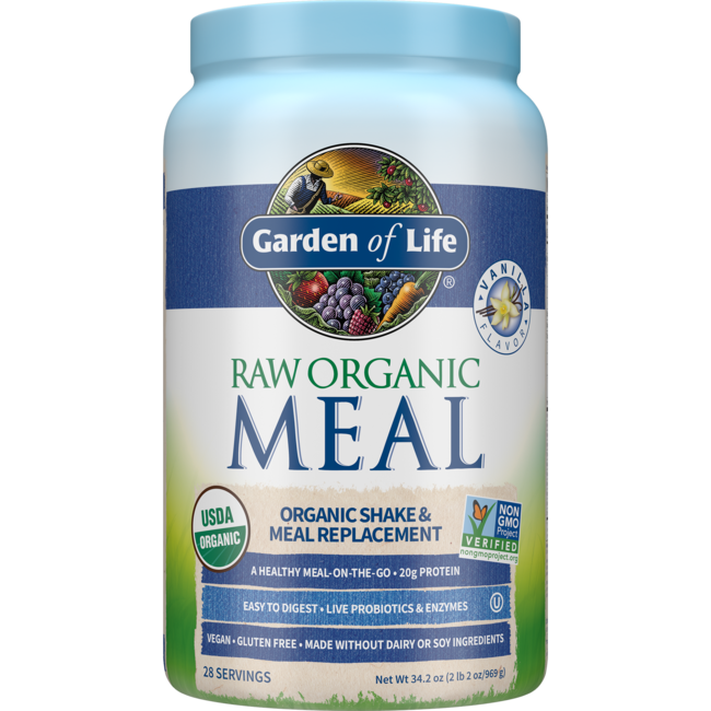 Garden Of Life Raw Meal Organic Shake Meal Replacement Vanilla 33 5 Oz 949 Grams Pwdr