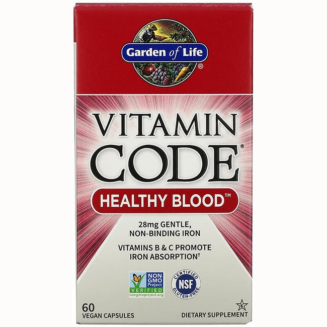 Garden Of Life Vitamin Code Healthy Blood 60 Vegan Caps Swanson Health Products