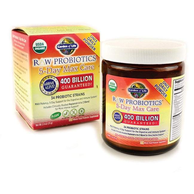 Garden of Life RAW Probiotics 5 Day Max Care 400 Billion CFU 24