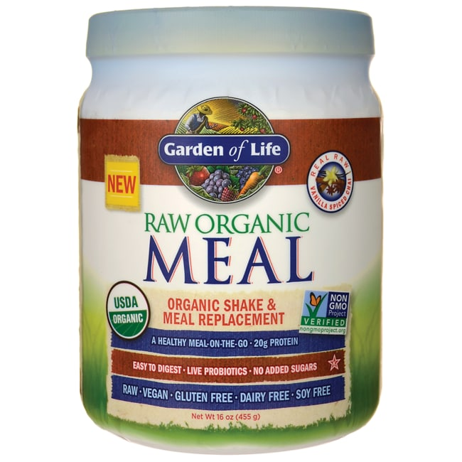 Garden of Life RAW Meal Organic Shake/Meal Replacement Vanilla Spiced