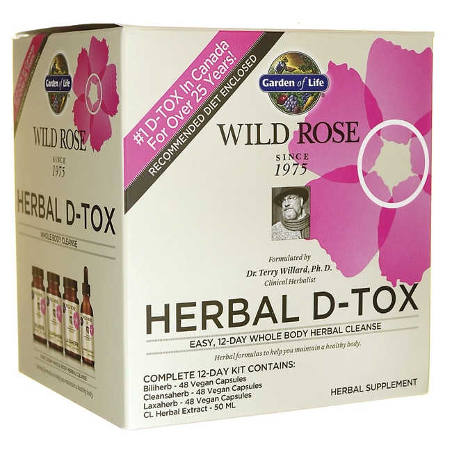 Garden of Life Wild Rose Herbal D-Tox Whole Body Cleanse 12-Day Kit