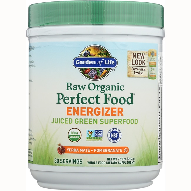 Garden of life perfect food raw energizer 10 oz pwdr swanson health products for Garden of life energy and focus