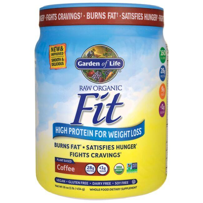 Garden of Life Raw Organic Fit High Protein For Weight Loss - Coffee