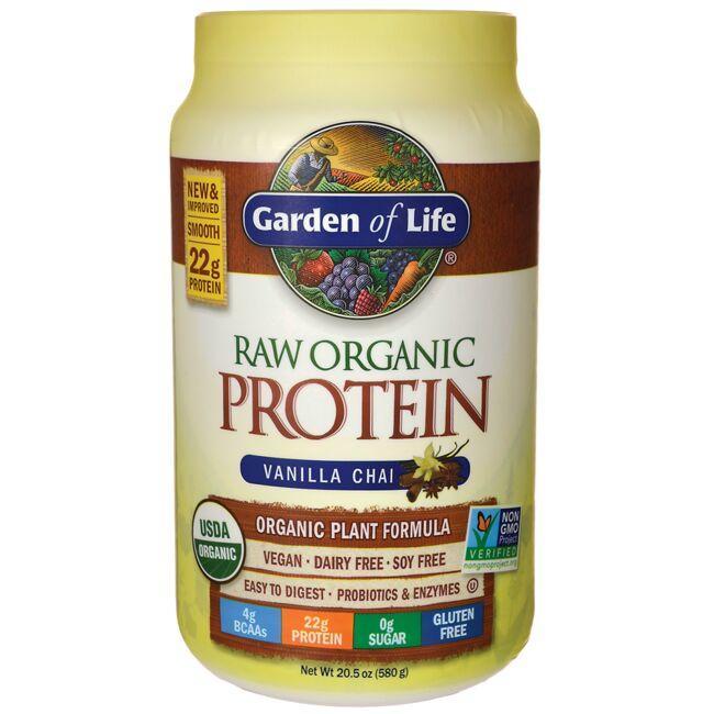 Garden Of Life Organic Raw Protein Vanilla Chai 20 5 Oz 580 Grams Pwdr Swanson Health Products