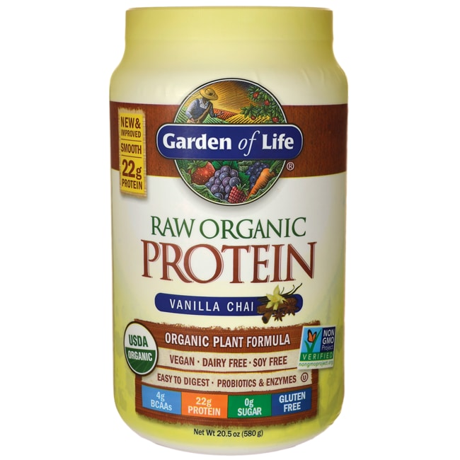 garden of life raw protein organic vanilla spiced chai 22 oz pwdr swanson health products