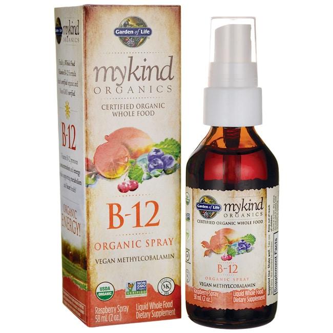 Garden Of Life Mykind Organics B 12 Organic Spray Raspberry 500 Mcg 2 Oz 58 Ml Liquid