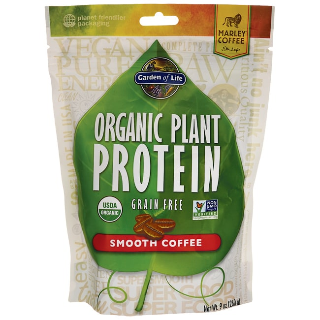 Garden Of Life Organic Plant Protein Smooth Coffee 9 Oz 260 Grams Pwdr Swanson Health Products