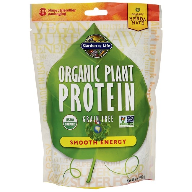 Garden Of Life Organic Plant Protein Smooth Energy 9 Oz 240 Grams Pwdr Swanson Health Products