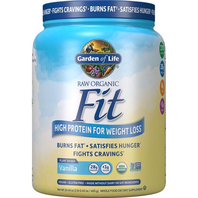 Garden of LifeRaw Organic Fit High Protein for Weight Loss -Vanilla