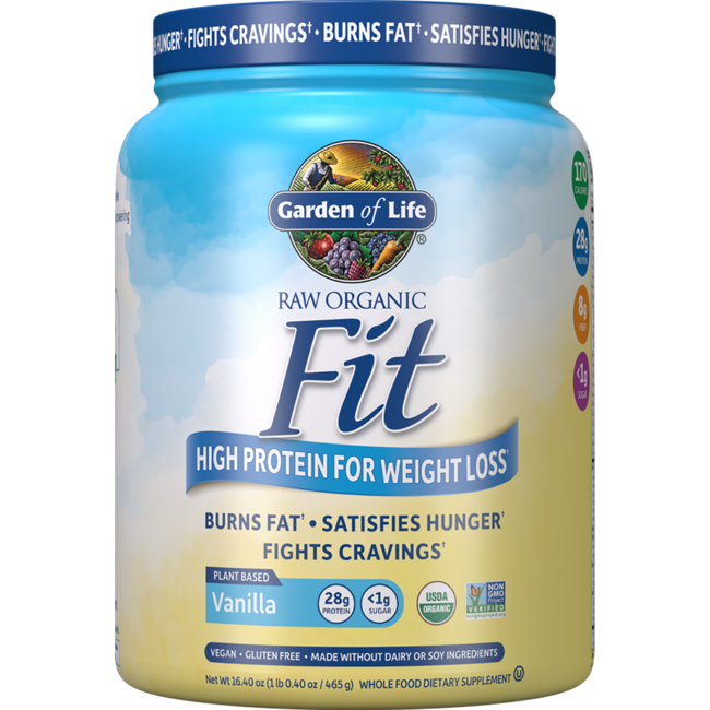 Garden Of Life Raw Fit Protein Vanilla 15 Oz 420 Grams Pwdr Swanson Health Products