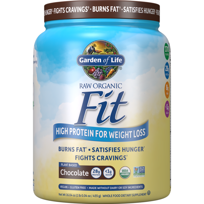Garden Of Life Raw Organic Fit High Protein For Weight Loss Chocolate 16 3 Oz 461 Grams Pwdr