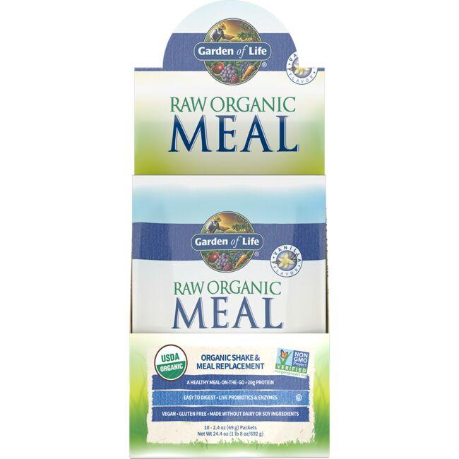 Garden Of Life Raw Organic Meal Shake Meal Replacement Vanilla 10 Pkts Swanson Health Products