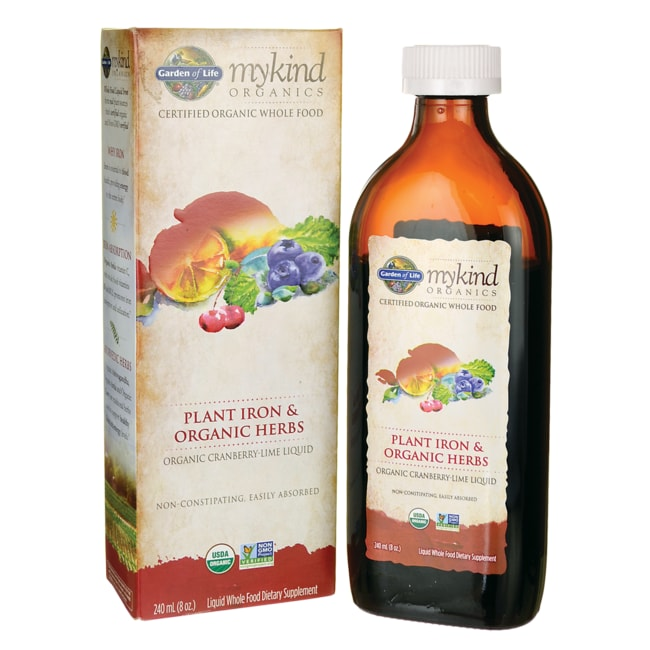 Garden of LifeMykind Organics Plant Iron & Organic Herbs - Cranberry-Lime