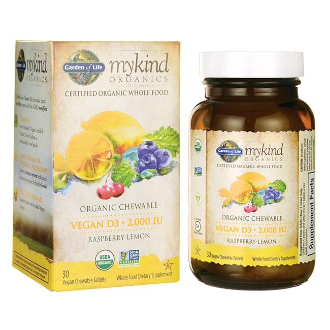 Garden of LifeMykind Organics Vegan D3 - Raspberry-Lemon