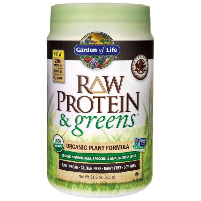 Protein And Greens Chocolate Tray 10 Packets 108 Oz 306 Grams Garden Of Life Raw Organic Protein
