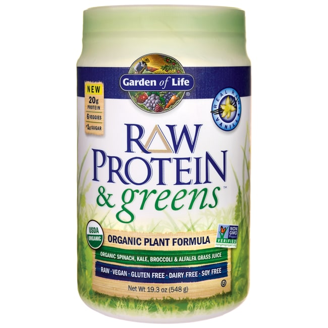 Garden Of Life Raw Protein Greens Vanilla 19 3 Oz 548 Grams Pwdr Swanson Health Products