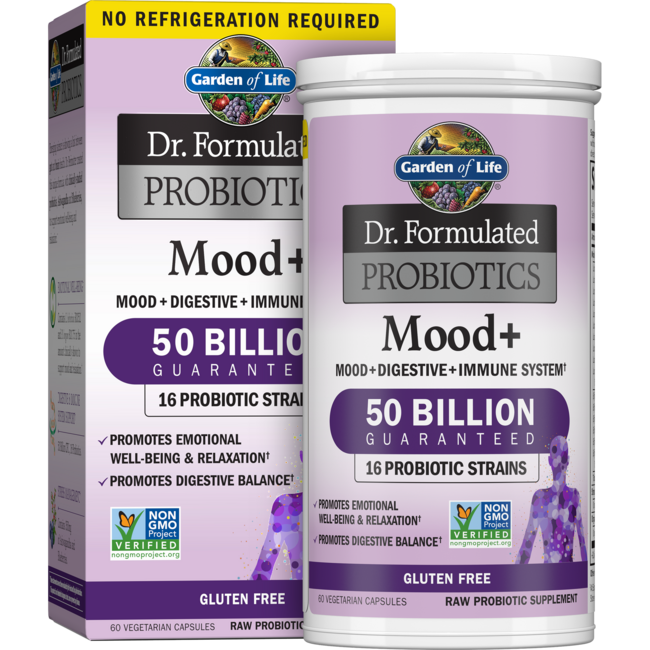 Garden of life dr formulated probiotics mood 50 billion cfu 60 veg caps swanson health products for Garden of life probiotics mood