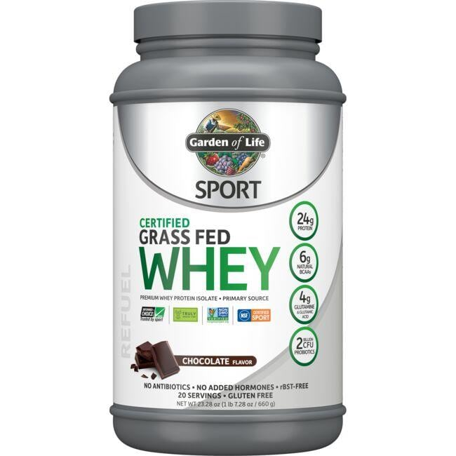 Garden of Life SPORT Certified Grass Fed Whey Protein - Chocolate