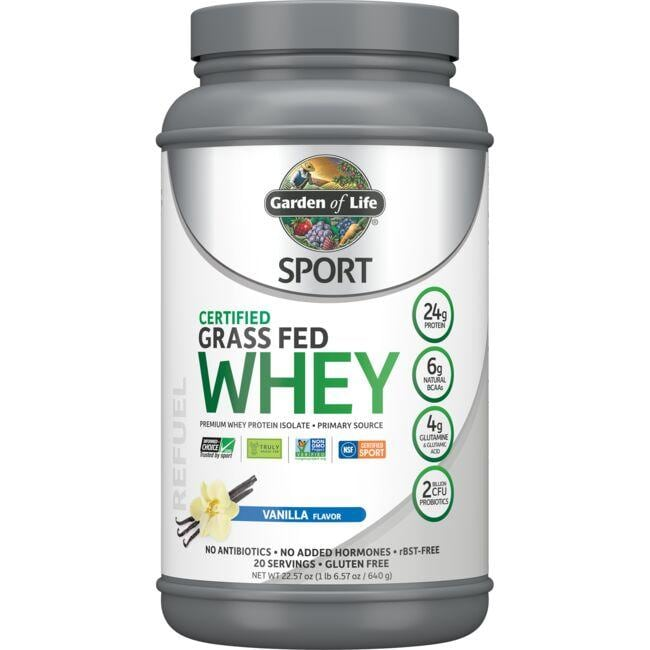 Garden of Life SPORT Certified Grass Fed Whey Protein - Vanilla