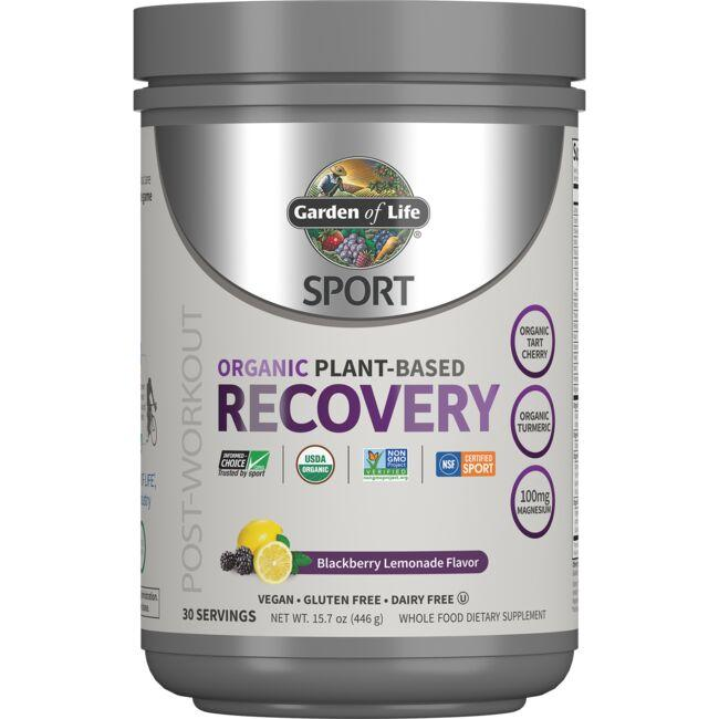 Garden of Life SPORT Organic Plant-Based  Recovery - Blackberry Lemonade