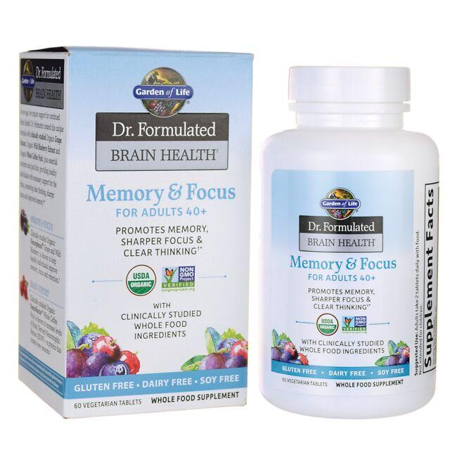 Garden of Life Dr. Formulated Memory & Focus for Adults 40+